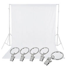 Neewer White 6 x 9FT Muslin Collapsible Backdrop Background with 5pcs Clamps