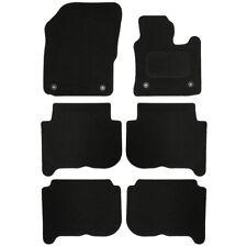 VW Touran 7 Seats 07-10 Sakura Tailored Deluxe Carpet Car Mat Set 6 Pieces Black