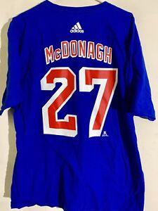 adidas  NHL T-Shirt New York Rangers Ryan McDonagh Blue sz XL