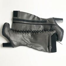 NWOTB Torrid Women's Size 10.5W Gray Faux Leather Over The Knee Boots