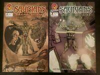 Saurians Unnatural Selection Comic Lot #1 & #2 CROSSGEN  NM