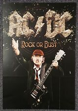 AC/DC Rock or Bust 2014 DOUBLE-SIDED PROMO POSTER Angus Young