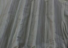 "Olive/White Vertical Taffeta Stripes 100% Silk Fabric 54"" Wide By Yard (SD-706C)"