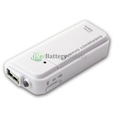 USB White Emergency Portable 2 AA Battery Power Charger for Android Cell Phone