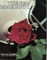 1984 (Jan. 2) College Football program, Rose Bowl, UCLA  vs. Illinois ~ Gd