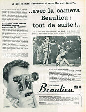 PUBLICITE ADVERTISING  1960   BEAULIEU  Caméra MR8