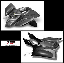 NEW YAMAHA RAPTOR 660 BLACK CARBON FIBER PLASTIC FRONT AND REAR FENDER SET