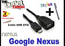 **CABLE USB OTG (ON THE GO) PARA GOOGLE NEXUS 7 10 ASUS MICRO USB A USB HEMBRA
