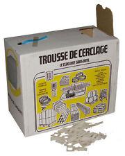 KIT TROUSSE FEUILLARD 600 METRES CERCLAGE MANUEL + 200 BOUCLES + CUTTER GRATUIT