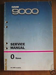 1989 Saab 9000 NEWS Service Manual