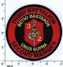 USMC 3rd Battalion/2nd Marines LARGER patch 3/2 Betio Bastards 3d Bn/2d Mar IRAQ