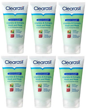 Clearasil Daily Clear Vitamin Extract Wash & Mask Avocado & Pomegranate 6X 150ml