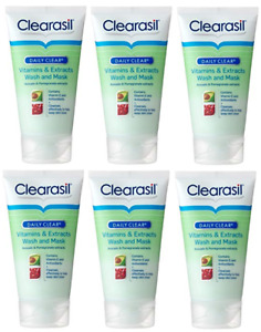 Clearasil Daily Clear Vitamin Extract Wash Avocado & Pomegranate 6X 150ml