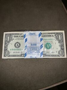 100 GEM~UNCIRCULATED 2009 $1 BOSTON STAR NOTES! RADAR STAR PACK! COOL BEANS!