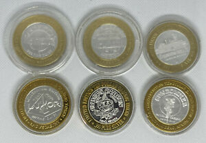 Lot of 11 $10 Silver Strike Tokens