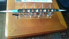 Maquette Aviron Quatre de couple Kevlar carbone avec support et rames 72 cms