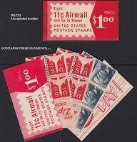 1971 AIRMAIL BKC22 - C78a 1280c panes MINT COMPLETE unexploded
