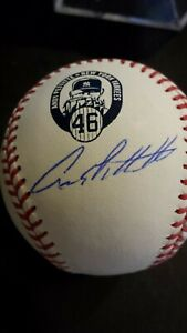 ANDY PETTITTE AUTOGRAPHED RETIREMENT LOGO OFFICIAL BASEBALL STEINER  CERTIFICATE