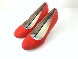 Sole Diva Suade Heeled Shoes Orange Size 5E