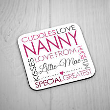 Personalised Square Coaster - Greatest Nanny