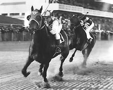 SEABISCUIT vs WAR ADMIRAL HORSE RACING CLASSIC 8X10 PHOTO
