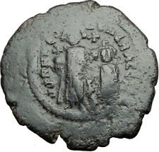 HERACLIUS & Son H Constantine Genuine 610AD Ancient Byzantine Follis Coin i65034