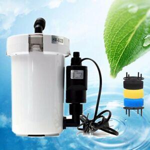 Mini 400L/h Aquarium External Canister Extérieur Fish Tank Filtre de Coton Pompe
