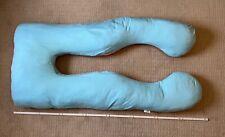 U förmiges Stillkissen, Schwangerschaftskissen, Seitenschläferkissen Blau/Rosa