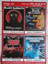 BLACK SABBATH-SAGA-2014  orig.Concert-Konzert-Tour- Poster-Plakat  DIN A1 .