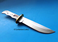 """Large 12"""" Bowie  Knife Making Blade Blank with Brass Finger Guard"""