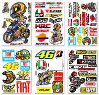 Valentino Rossi 46 The Doctor Stickers Motorcycle Bike Helmet Bumper Decals Lot