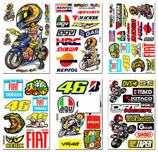 Valentino Rossi 46 The Doctor Stickers Motorcycle Bike Helmet Bumper Decals Lot