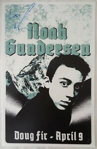 Signed NOAH GUNDERSEN Gig POSTER In-Person w/proof Autograph Concert