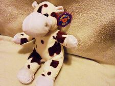 """KUDDLE ME TOYS 17"""" Plush COW Black & White Stuffed Farm Animal"""