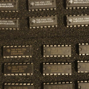 8x ~ TMS4164-15NL Grde 'A' Tested/Working ~ 64K*1-bit Dynamic RAM: Read Descript