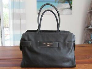 Handtasche Paul Costelloe schwarz gold groß Damentasche Leder