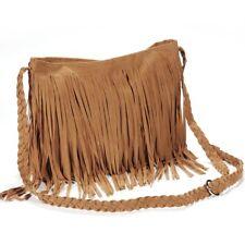 Fringed handbag shoulder bag woman tendency Brown W9N6