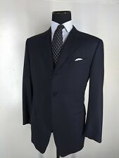 Rothman's for Canali Vintage Super 120's Wool Blazer 3 Btn No Vents 44 Reg