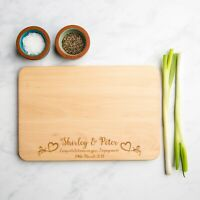 Engagement Personalised Wooden Chopping Board | Anniversary Gift | Wedding Gifts