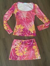 Emilio Pucci Firenze Top Shirt Skirt 2 Piece Outfit XS 36