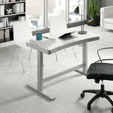Babin Height powered adjustable desk with glass surface and usb