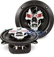 """Boss SK553 135W RMS 5.25"""" 3-Way Full Range Phantom Skull Car Stereo Speakers"""