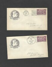 #795 3c ORDINANCE OF 1787  FDC  SET-SCARCE HOUSE OF FARNAM CACHETS ON BOTH