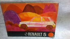 Manuale uso e manutenzione RENAULT 5 - 1973- ORIGINALE D'EPOCA
