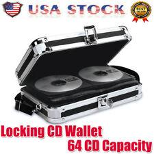 CD Case DVD Wallet Media Album Holds 64Disc Bag Organizer Portable Storage Black