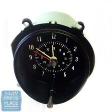 1969-72 GTO / LeMans / Grand Prix Dash Clock - Black Face - New