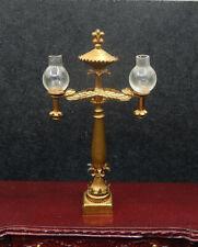 Vintage Ellen Krucker Blauer Victorian Gas Lamp Artisan Dollhouse Miniature 1:12