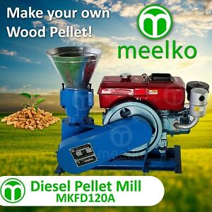 PELLET MILL 8 HP DIESEL ENGINE MIAMI USA SHIPPING (8mm wood)