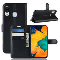 For Samsung A10 A20 A30 A40 A50 A70 Classic Flip Leather Wallet Stand Case Cover