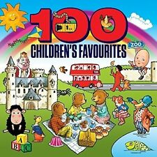 100 Children's Favourites 4CD Box Set Nursery Rhymes Wheels on the Bus + More